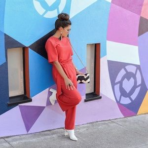 Tomato red H&M jumpsuit